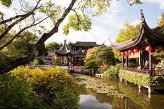 Portland wedding and event venue, Lan Su Chinese Garden, is so beautiful any time of year! You'd never know it's in the middle of downtown Portland!