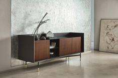 Inspiring Sideboard Ambiances You Will Love (Part II) Tv Unit Furniture, Sideboard Furniture, Luxury Furniture, Furniture Design, Sideboard Modern, Flat Interior Design, Italian Leather Sofa, Muebles Living, Italia Design