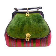 roberta di camerino vintage velvet hand bag, italy #NMFallTrends