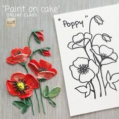 Paint on cake Online class now available ! Practice with my sketch first and then you can paint on you cake with more confident^_^ ON…Next class Iran Sculpture painting class December 2018 Basic&Advance For infostep by step cake decorating Frosting Flowers, Buttercream Flower Cake, Cake Icing, Buttercream Frosting, Eat Cake, Cupcake Cakes, Cupcakes, Cake Decorating Techniques, Cake Decorating Tutorials