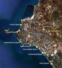 Sihanoukville Beach Map, much more: