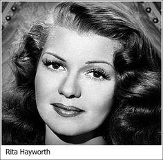 Rita Hayworth New York, 17 ottobre 1918 - New York, 14 maggio 1987 attrice e ballerina statunitense.
