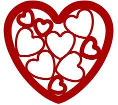 Embedded heart svg