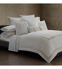 Ming Fretwork Bedding Collection by Natori® | Herberger's