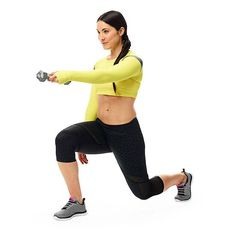 Tennis Swing: works your back, arms, abs, butt, and legs