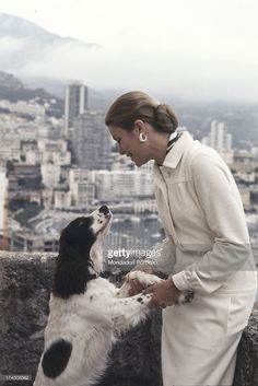 Portrait of the actress and Princess of Monaco Grace Kelly, wife of Rainier III, Prince of Monaco, on the terrace of the Royal Palace of Monaco. Monaco, 1973.