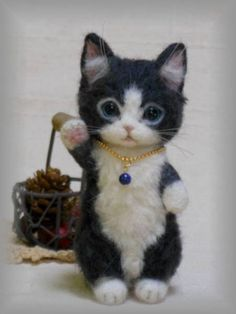 Cute little needle felted cat by sachie3255 on Yahoo Auctions Japan