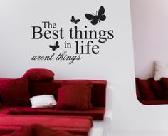 The best things in life arent things Life Is Good, English, Good Things, Quotes, Home Decor, Quotations, Decoration Home, Room Decor, Life Is Beautiful