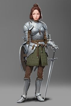 Female human plate armor shield sword cleric fighter paladin - pathfinder pfrpg dnd d&d fantasy Character Design Cartoon, Fantasy Character Design, Character Design Inspiration, Character Concept, Character Art, Fantasy Female Warrior, Female Armor, Female Knight, Fantasy Armor