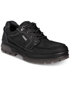 9816e77c Ecco Men's Rugged Track Gtx Moc Toe Waterproof Leather Oxfords - Black 42  Rugged Men,