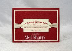 I love the simple elegance of Mel's Heart of Christmas card.