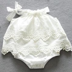 Lace Romper for Church or Portrait