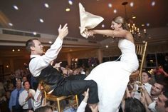 Jewish wedding. We've already decided to have the chair lift thing at ours.(: