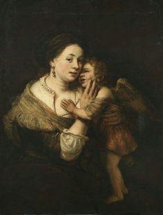 Rembrant -Venus and Amor circa 1640-1660