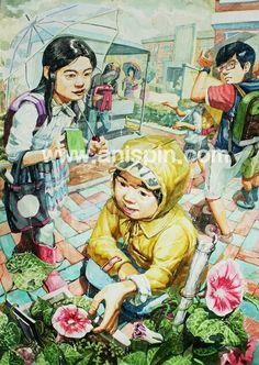 상황표현 Creative Illustration, Illustration Art, Painting For Kids, Art For Kids, Drawing Competition, Francisco Goya, Human Drawing, Georges Braque, Korean Art