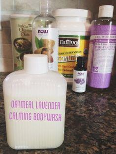 DIY (CHEMICAL FREE!) OATMEAL LAVENDER BODY WASH