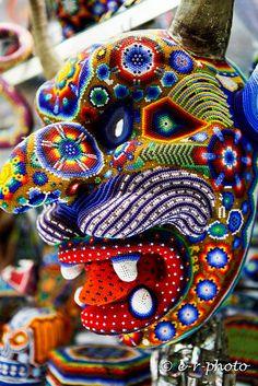 Crane, Arte Popular, Mexican Art, Puerto Vallarta, Shakira, Bead Art, Seed Beads, Creepy, Native American