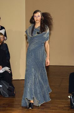 Junya Watanabe SS 2002- idea of making a fabric and then draping it