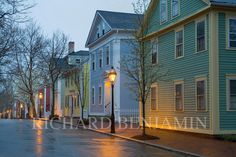 Providence, RI. Greek Revival and Georgian structures on Benefit Street. Photo by Richard Benjamin.
