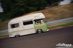 Slammed Vw bus camper conversion