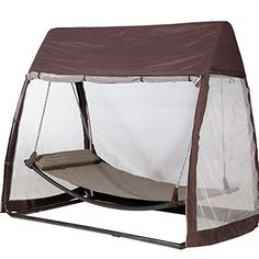 Abba Patio Outdoor Arched Canopy Cover Hanging Swing Hammock with Mosquito Net 7.6x4.5x6.7 Ft, Chocolate Abba Patio® http://www.amazon.com/dp/B013G1WVI8/ref=cm_sw_r_pi_dp_6Yrfxb043RAEK