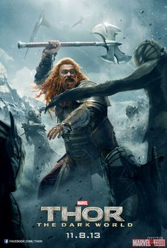Volstagg Swings His Axe Through a New Thor Poster