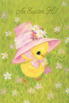Easter Card Little Chick Easter Art, Easter Crafts, Easter Bunny, Happy Easter, Easter Greeting Cards, Vintage Greeting Cards, Vintage Easter, Vintage Holiday, Vintage Magazine