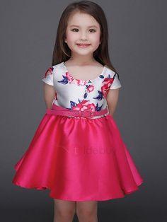 #AdoreWe #TideBuy TideBuy Chic Color Block Belt Girls Dress - AdoreWe.com