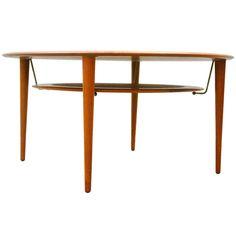 Peter Hvidt & Orla Mølgaard-Nielsen; Teak and Metal Coffee Table for France & Son, 1950s.