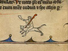 ride the cat, ride the cat     Vincent of Beauvais, Speculum historiale, France ca. 1294-1297.     Boulogne-sur-Mer, BM, ms. 130I, fol. 233r