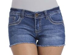 WFJ00040M-489-0 Wallflower Denim Short Shorts with Frayed Hem and Heavy Stitch Accent Size: 0 In: Sierra-489 Wallflower. $12.50. Save 58%!