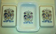 Vintage  PRINCESS DIANA  &  PRINCE CHARLES SOAP & DISH    The Royal Wedding 1981