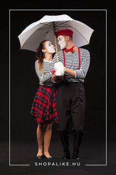 Ötletes, mégis gyorsan elkészíthető jelmezt keresel a farsangi bulira? Próbáld ki ezt a kreatív pantomimes jelmezt, ami csupa olyan ruhából készült, ami bizonyára a te szekrényedben is megtalálható. A lényeg, hogy többnyire fekete-fehér ruhákat válassz, piros kiegészítőkkel. A legfontosabb elem a fekete-fehér csíkos felső. Egy fehér kesztyű és fehér arcfesték teszi teljessé a képet. Gyakorolj be pár tipikus pantomimes mozdulatot is. #jelmez #farsang #farsangijelmez #pantomim