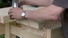 In this episode Paul Sellers shows you how to fit the well board onto the leg frames. This gives the bench a great structure and strength. Building A Workbench, Woodworking Videos, Great Videos, Master Class, Workbenches, Carpentry, Aprons, Connect, Wordpress