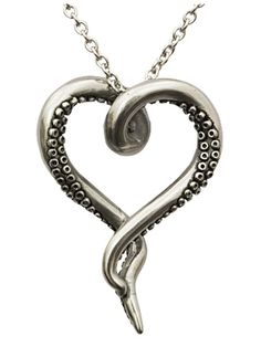Sea Lover by Controse (Silver) http://www.inkedshop.com/octopus-tentacle-heart-necklace-by-controse-silver.html
