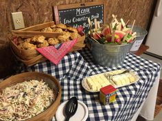 Beach Themed Low Country Boil Wedding Buffet at the Shrine ...