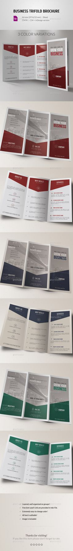 Corporate Business Trifold Brochure - Corporate Brochures