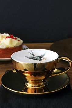 Imagine having your favouite tea in this wonderful cup and saucer True decadence The cup is lovely and large so you can enjoy a really good cup of