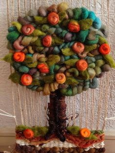 fiber art tree etniacolor.blogspot.com