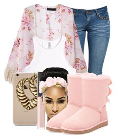 """How many Times"" by ray-royals ❤ liked on Polyvore featuring Boohoo, H&M, NARS Cosmetics and UGG Australia"