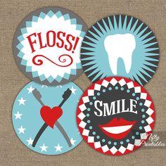 Dental Cupcake Toppers  Printable Dental by NiftyPrintables