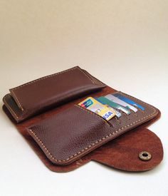 Men's wallet  Etsy listing at http://www.etsy.com/listing/127434231/handmade-leather-free-combination-wallet