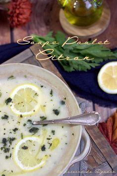 Soupe grecque au poulet et citron (avgolemono)