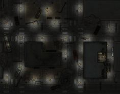 Fallout d20 - Oakley Medical sector - night by Altegore