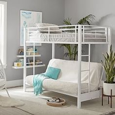 Full Size Futon With Top Twin Bunk Loft Beds For Teens