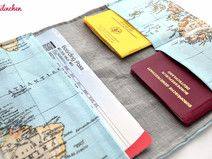 Reiseetui, Boarding Pass, Landkarte