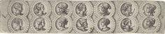 Virgilius Solis (I) | Fries met veertien koppen in medaillons, Virgilius Solis (I), 1524 - 1562 |