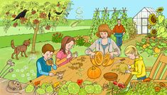 Dinar al camp. Talk 4 Writing, English Creative Writing, Family Illustration, Garden Illustration, Mickey Mouse Wallpaper, See And Say, Hidden Pictures, Picture Story, Cartoon Pics