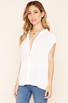 Boxy Cap-Sleeved Shirt