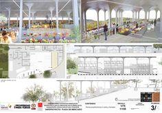 Primer Lugar en Concurso de anteproyecto Plaza de Mercado de Nuevo Gramalote / Colombia,Lámina 03. Image Courtesy of Jheny Nieto + Rodrigo Chain